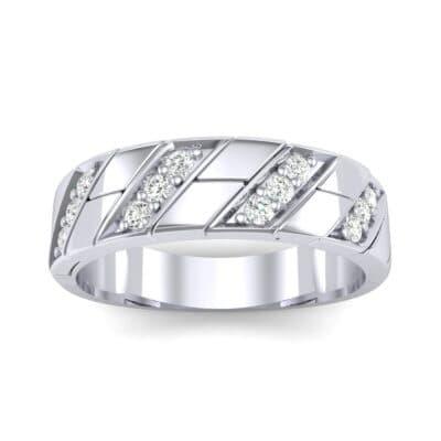 Diagonal Pave Diamond Ring (0.3 CTW) Top Dynamic View