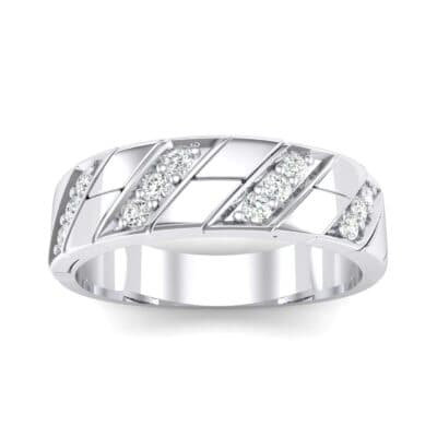 Diagonal Pave Crystal Ring (0.3 CTW) Top Dynamic View