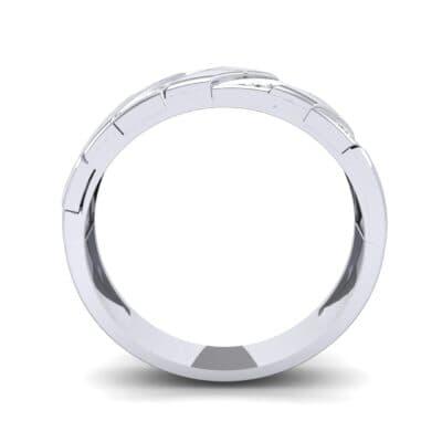 Diagonal Pave Diamond Ring (0.3 CTW) Side View