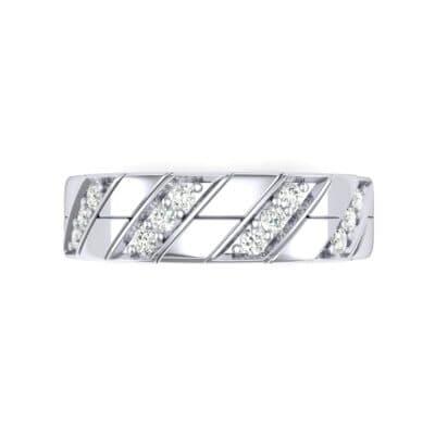 Diagonal Pave Diamond Ring (0.3 CTW) Top Flat View