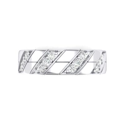 Diagonal Pave Crystal Ring (0.3 CTW) Top Flat View
