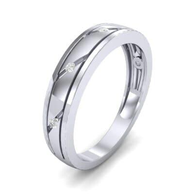 Diagonal Burnish Diamond Ring (0.05 CTW)