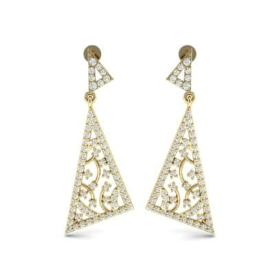 Pave Mosaic Diamond Earrings (1.41 CTW) Side View