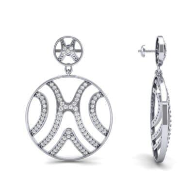 Pave Sahara Diamond Earrings (1.63 CTW) Top Dynamic View