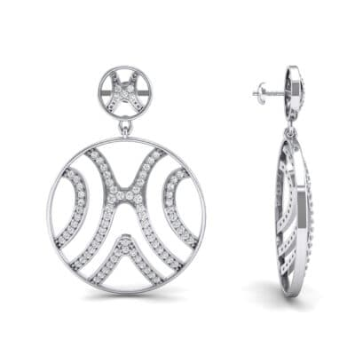 Pave Sahara Crystal Earrings (1.63 CTW) Top Dynamic View