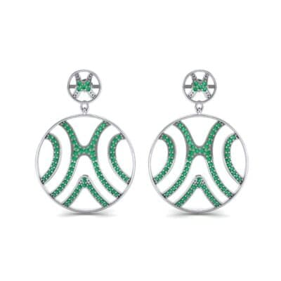 Pave Sahara Emerald Earrings (1.63 CTW) Side View