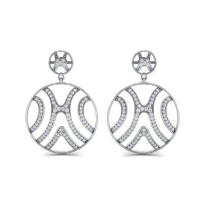 Pave Sahara Diamond Earrings (1.63 CTW) Side View