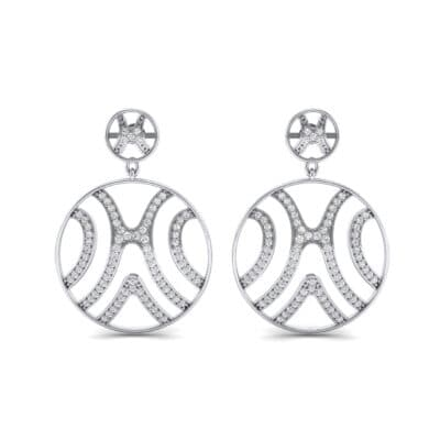 Pave Sahara Crystal Earrings (1.63 CTW) Side View