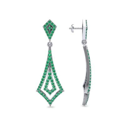 Nested Kite Emerald Earrings (1.34 CTW) Top Dynamic View