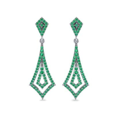 Nested Kite Emerald Earrings (1.34 CTW) Side View