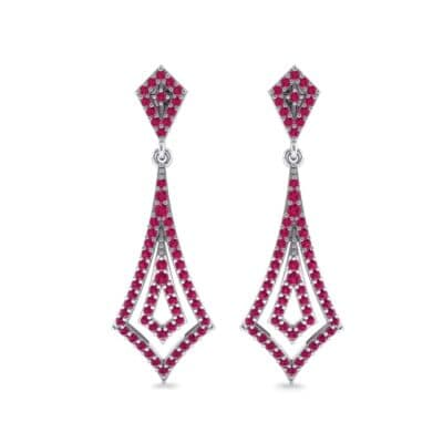 Nested Kite Ruby Earrings (1.34 CTW) Side View