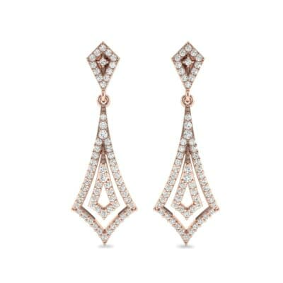 Nested Kite Diamond Earrings (1.34 CTW) Side View