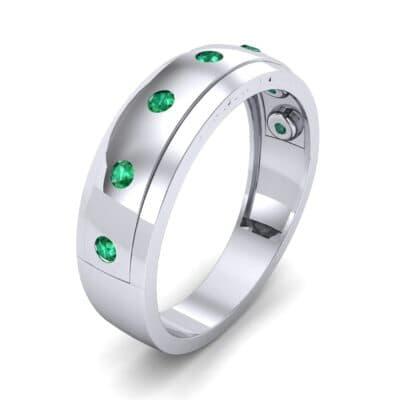 Cinque Burnish Emerald Ring (0.21 CTW) Perspective View