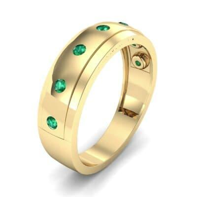 Cinque Burnish Emerald Ring (0.21 CTW)