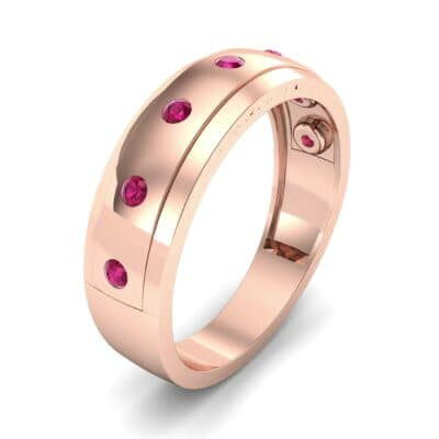 Cinque Burnish Ruby Ring (0.21 CTW) Perspective View