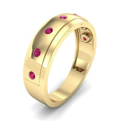 Cinque Burnish Ruby Ring (0.21 CTW)