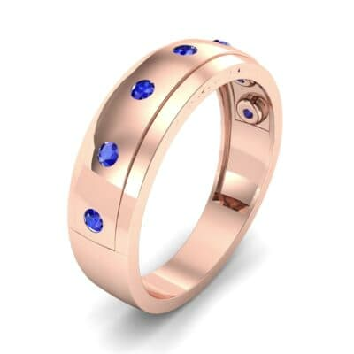 Cinque Burnish Blue Sapphire Ring (0.21 CTW)