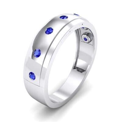 Cinque Burnish Blue Sapphire Ring (0.21 CTW) Perspective View