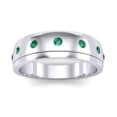 Cinque Burnish Emerald Ring (0.21 CTW) Top Dynamic View