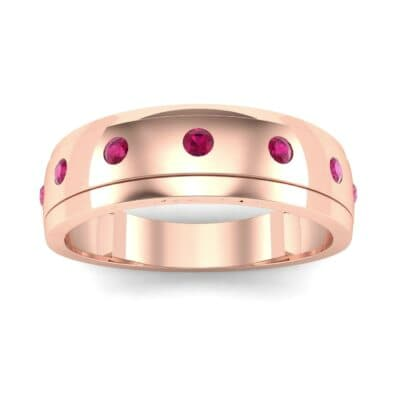 Cinque Burnish Ruby Ring (0.21 CTW) Top Dynamic View