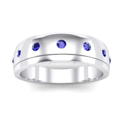 Cinque Burnish Blue Sapphire Ring (0.21 CTW) Top Dynamic View