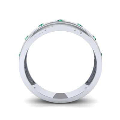 Cinque Burnish Emerald Ring (0.21 CTW) Side View