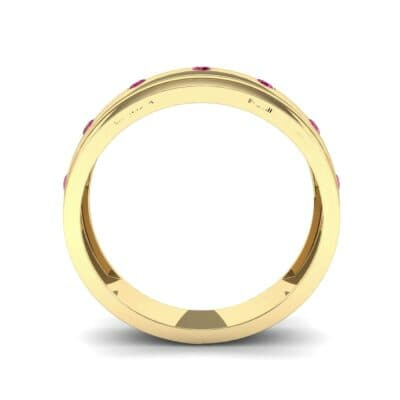 Cinque Burnish Ruby Ring (0.21 CTW) Side View