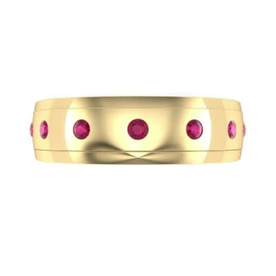 Cinque Burnish Ruby Ring (0.21 CTW) Top Flat View
