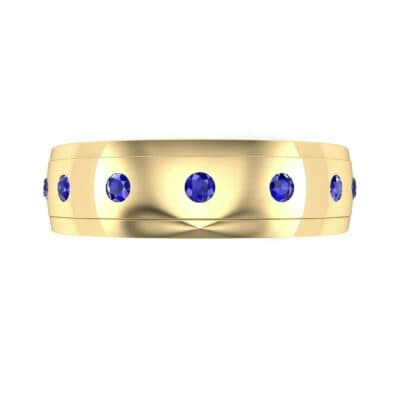 Cinque Burnish Blue Sapphire Ring (0.21 CTW) Top Flat View