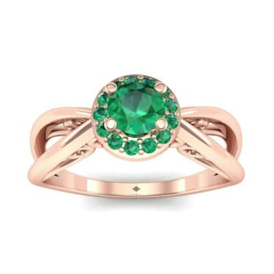 Ij097 Render 1 01 Camera2 Stone 1 Emerald 0 Floor 0 Metal 2 Rose Gold 0 Emitter Aqua Light 0