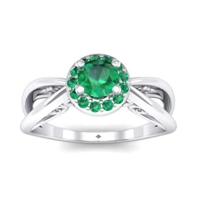 Ij097 Render 1 01 Camera2 Stone 1 Emerald 0 Floor 0 Metal 4 White Gold 0 Emitter Aqua Light 0