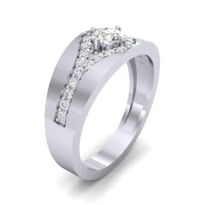 Inset Pave Champion Diamond Engagement Ring (0.52 CTW)