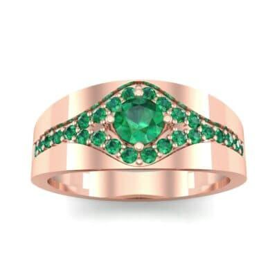 Ij098 Render 1 01 Camera2 Stone 1 Emerald 0 Floor 0 Metal 2 Rose Gold 0 Emitter Aqua Light 0