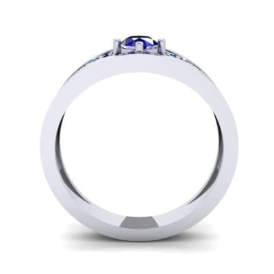Inset Pave Champion Blue Sapphire Engagement Ring (0.52 CTW) Side View
