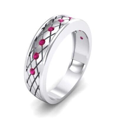 Crosshatch Burnish Ruby Ring (0.31 CTW)