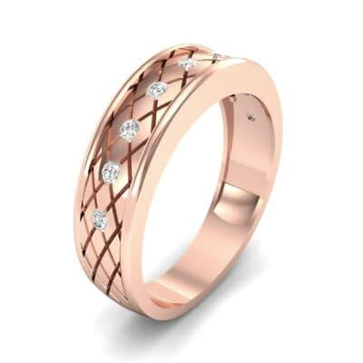 Crosshatch Burnish Diamond Ring (0.31 CTW)