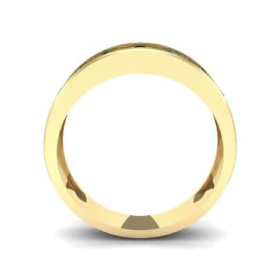 Crosshatch Burnish Emerald Ring (0.31 CTW) Side View