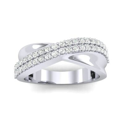 Half-Pave Twist Diamond Ring (0.68 CTW) Top Dynamic View