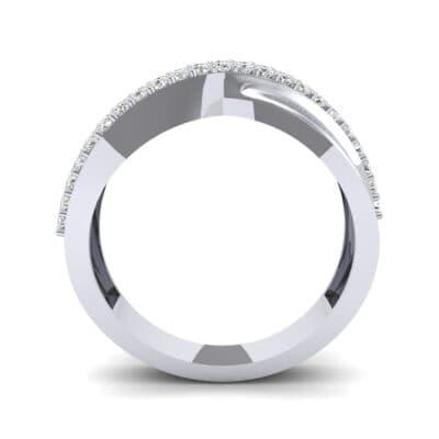 Half-Pave Twist Diamond Ring (0.68 CTW) Side View