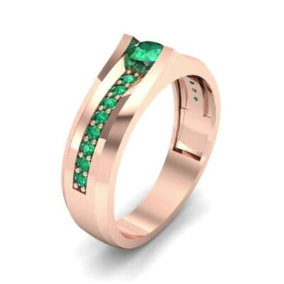 Pave Apex Emerald Engagement Ring (0.41 CTW)
