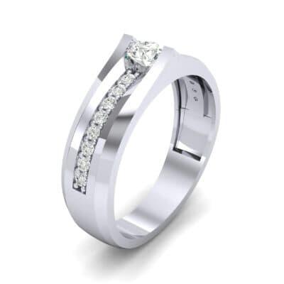 Pave Apex Diamond Engagement Ring (0.41 CTW)