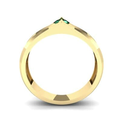 Pave Apex Emerald Engagement Ring (0.41 CTW) Side View