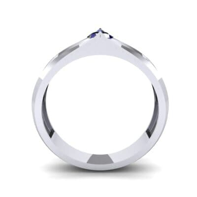 Pave Apex Blue Sapphire Engagement Ring (0.41 CTW) Side View