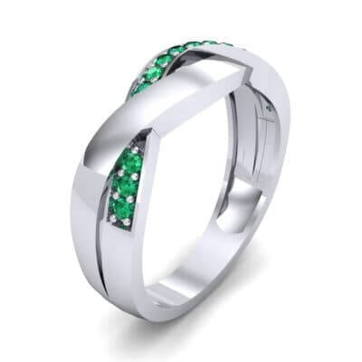 Curved Intertwine Emerald Ring (0.26 CTW)
