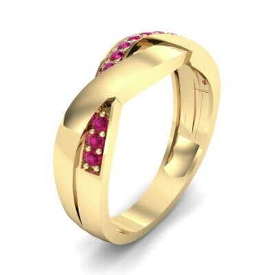 Curved Intertwine Ruby Ring (0.26 CTW)