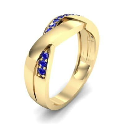 Curved Intertwine Blue Sapphire Ring (0.26 CTW)