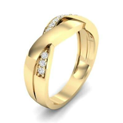Curved Intertwine Diamond Ring (0.26 CTW)