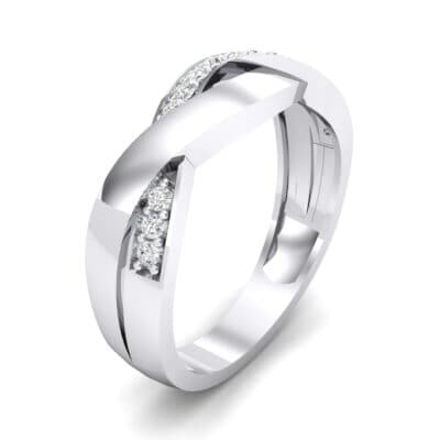 Curved Intertwine Crystal Ring (0.26 CTW) Perspective View