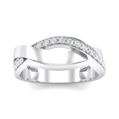 Curved Intertwine Crystal Ring (0.26 CTW) Top Dynamic View