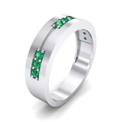 Pave Node Emerald Ring (0.27 CTW)